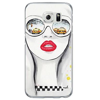 Kompatibilitás Samsung Galaxy S7 Edge tokok Minta Hátlap Case Szexi lány Puha Hőre lágyuló poliuretán mert Samsung S7 edge S7 S6 edge