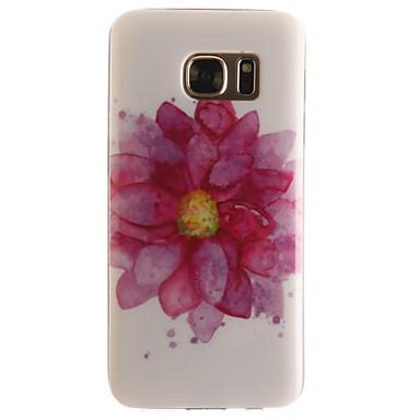 Mert Samsung Galaxy S7 Edge Minta Case Hátlap Case Virág Puha TPU SamsungS7 edge / S7 / S6 edge / S6 / S5 Mini / S5 / S4 Mini / S4 / S3