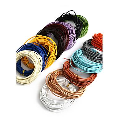 beadia 5mts 1.5mm kerek bőr zsinór& huzal& string (14 szín)