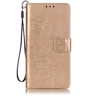 용 화웨이 케이스 / P9 / P9 Lite / P8 Lite 지갑 / 카드 홀더 / 스탠드 / 플립 / 엠보싱 텍스쳐 케이스 풀 바디 케이스 버터플라이 하드 인조 가죽 Huawei화웨이 P9 / 화웨이 P9 라이트 / Huawei P9 Plus