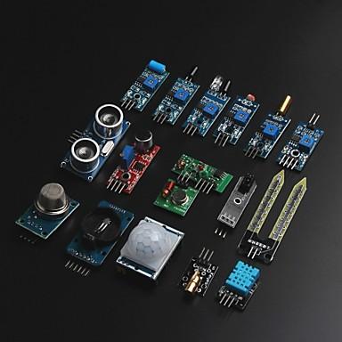 arduino를위한 arduino raspberry pi를위한 16 가지 유형의 센서 모듈 키트