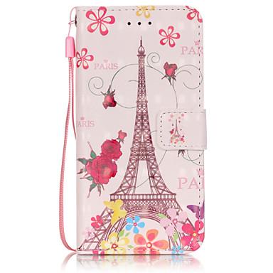 Mert iPhone 6 tok / iPhone 6 Plus tok Pénztárca / Kártyatartó / Flip Case Teljes védelem Case Eiffel torony Puha Műbőr AppleiPhone 6s