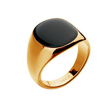 Men's Cat's Eye Chrysoberyl Band Ring - 18K Gold Plated, Opal Fashion 8 / 9 / 10 Silver / Golden For Christmas Gifts / Party / Daily