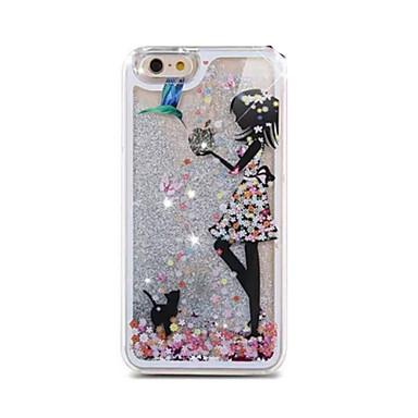 Para Capinha iPhone 5 Liquido Flutuante / Transparente Capinha Capa Traseira Capinha Brilho com Glitter Rígida PC iPhone SE/5s/5
