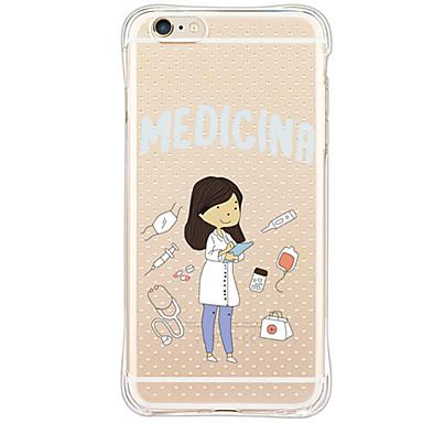Mert iPhone 6 tok / iPhone 6 Plus tok Ütésálló / Minta Case Hátlap Case Szexi lány Puha TPU AppleiPhone 6s Plus/6 Plus / iPhone 6s/6 /