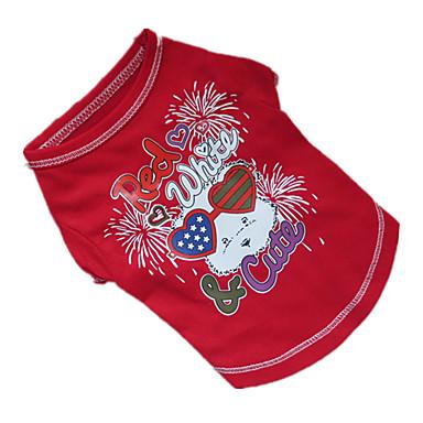 Hond T-shirt Hondenkleding Ademend Paars Rood Blauw Kostuum Voor huisdieren
