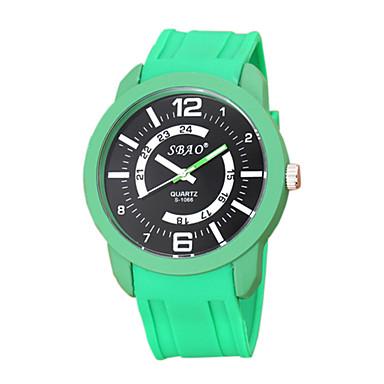 Χαμηλού Κόστους Ανδρικά ρολόγια-Ανδρικά Μοδάτο Ρολόι Χαλαζίας Συνθετικό δέρμα με επένδυση Λευκή / Μπλε / Κόκκινο Καθημερινό Ρολόι Αναλογικό Ριγέ - Κόκκινο Πράσινο Μπλε Ενας χρόνος Διάρκεια Ζωής Μπαταρίας / SSUO LR626