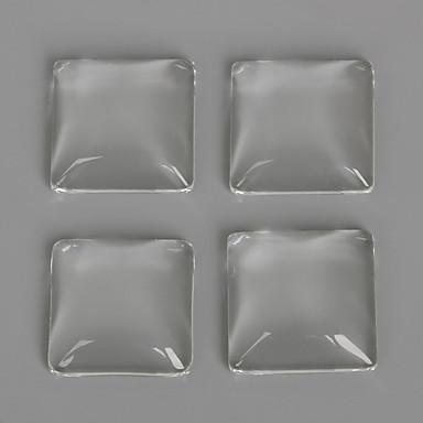 beadia 10db 20x20mm sík, négyzet alakú, átlátszó üvegből készült cabochon a fülbevaló karkötő nyaklánc ékszer készítés