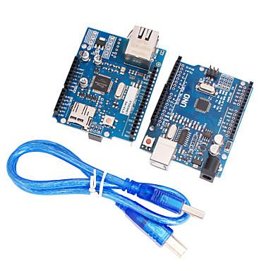 개선 된 버전 우노 R3의 + 업그레이드 버전 이더넷 W5100의 R3 방패 네트워크 보드 지원 mega2560