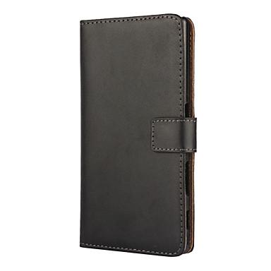 Capinha Para Sony Z5 Sony Xperia Z5 Capinha Sony Porta-Cartão Carteira Com Suporte Flip Capa Proteção Completa Côr Sólida Rígida PU