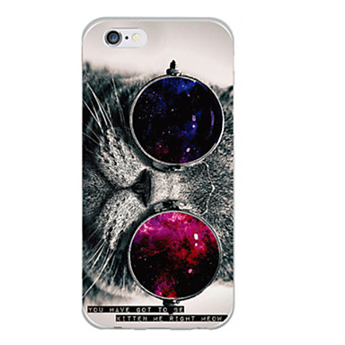 Coque Pour Apple iPhone 6 iPhone 6 Plus Motif Coque Chat Flexible TPU pour iPhone 6s Plus iPhone 6s iPhone 6 Plus iPhone 6