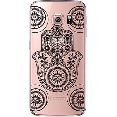 Mert Samsung Galaxy S7 Edge Átlátszó / Minta Case Hátlap Case Rajzfilmfigura Puha TPU Samsung S7 edge / S7 / S6 edge plus / S6 edge / S6