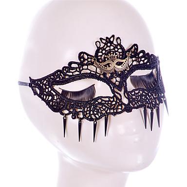 Ünnepi dekoráció fél maszk Csipke