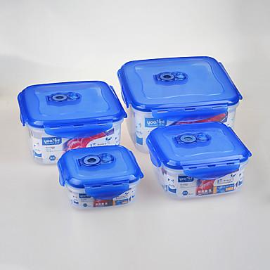 4 مطبخ البلاستيك صندوق الغداء