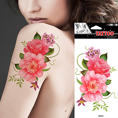 Tetkó matricák Virág sorozat Non Toxic Waterproof Női Felnőtt flash-Tattoo ideiglenes tetoválás