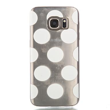 Mert Samsung Galaxy S7 Edge Átlátszó / Minta Case Hátlap Case Csempe Puha TPU Samsung S7 edge / S7 / S6 edge / S6 / S5