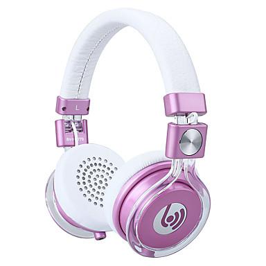 Beevo BV-HM760 A fülön Fejpánt Vezetékes Fejhallgatók Dinamikus Műanyag Mobiltelefon Fülhallgató HI-FI A hangerőszabályzóval Mikrofonnal