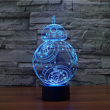 dotykowe przyciemnianie 3d led night light 7 kolorowa dekoracja atmosfera lampa nowość oświetlenie światło