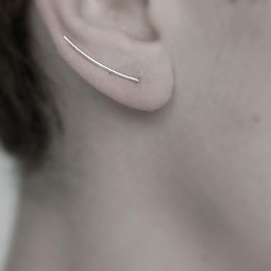 Kolczyki na sztyft - List, minimalistyczny styl Gold / Black / Silver Na Codzienny / Casual / Sport