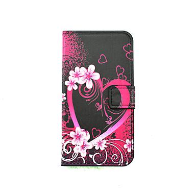 용 LG케이스 카드 홀더 / 스탠드 / 윈도우 / 플립 / 패턴 케이스 풀 바디 케이스 심장 하드 인조 가죽 LG LG K10 / LG K8
