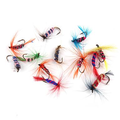 12 db Mamac za ribe Legyek Puha csali Soros Szénszálas acél Tengeri halászat Műlegyező horgászat Csalidobó Általános horgászat Csali