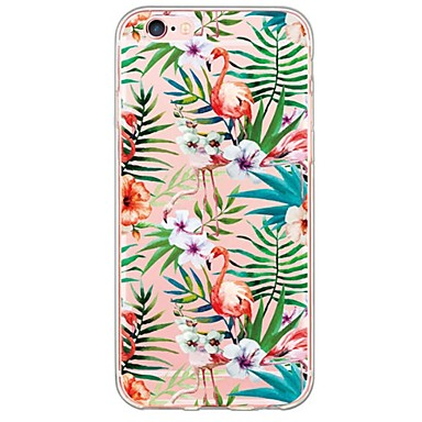 Case For Apple iPhone X iPhone 8 iPhone 6 iPhone 6 Plus Ultra-thin Translucent Back Cover Flamingo Soft TPU for iPhone X iPhone 8 Plus