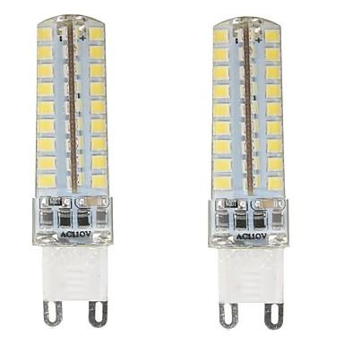 4.5W G9 LED Bi-pin 조명 T 72 LED가 SMD 2835 방수 밝기조절가능 장식 따뜻한 화이트 차가운 화이트 내추럴 화이트 350-400lm 3000-6000K AC 220-240 AC 110-130V