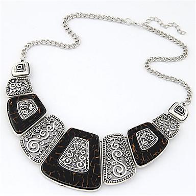 Női Vintage Party Munkahelyi Alkalmi Divat Nyilatkozat nyakláncok Gyanta Ötvözet Nyilatkozat nyakláncok , Esküvő Parti Napi Hétköznapi