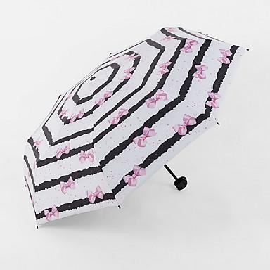 블랙 / 화이트 / 블루 / 핑크 접는 우산 써니와 비오는 고무 레이디 / 남성