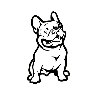 Ziqiao Fashion French Bulldog Dog Car Sticker Pet Cars Decal