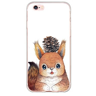Para Capinha iPhone 6 / Capinha iPhone 6 Plus Ultra-Fina / Translúcido Capinha Capa Traseira Capinha Animal Macia TPU AppleiPhone 6s