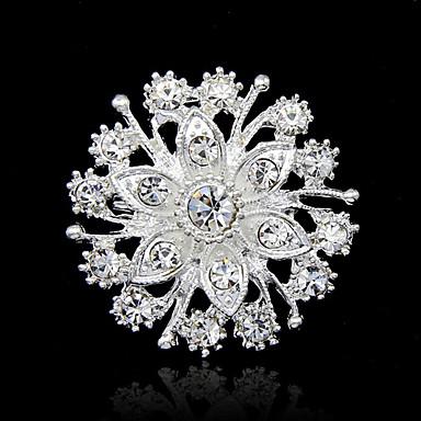 Pentru femei Broșe Rundă Modă Ștras Broșă Bijuterii Argintiu Pentru Petrecere Ocazie specială Zi de Naștere Cadou Zilnic