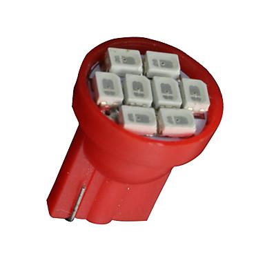 20x t10 vermelho W5W 158 168 192 194 906 8-SMD traço levou instrumento velocímetro luz