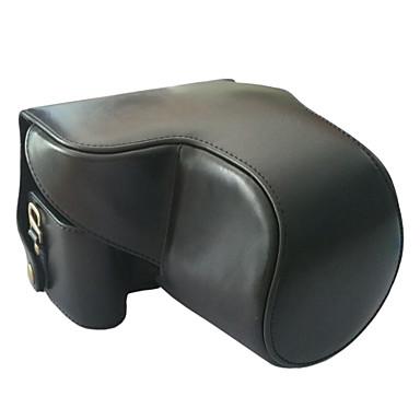 디지털 카메라-가방--원숄더--블랙 커피 브라운