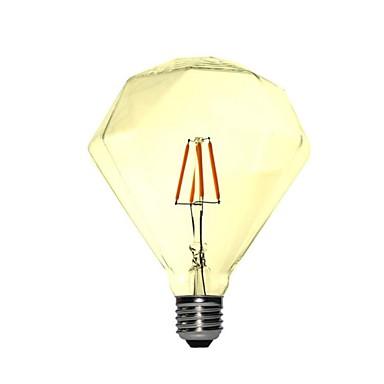 1pc 4 W 350 lm E26 / E27 LED-gloeilampen G95 4 LED-kralen COB Decoratief Warm wit 220-240 V / 1 stuks / RoHs
