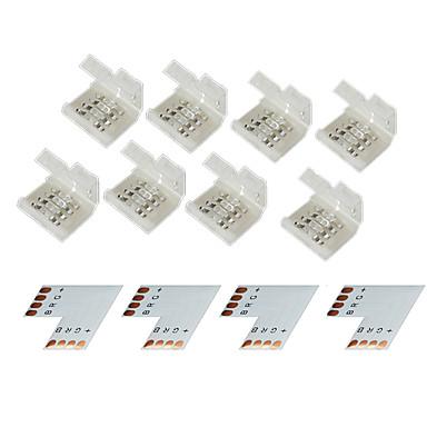 10mm 5050 RGB LED 스트립 조명에 대한 z®zdm 4 그룹 4 핀 압착 커넥터