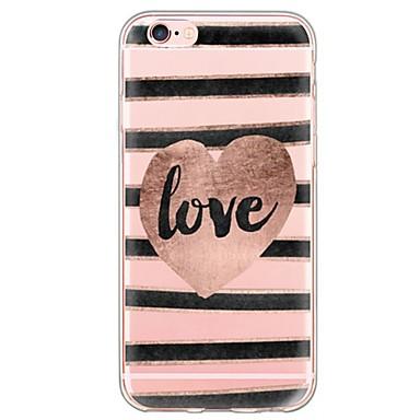 Mert iPhone 6 tok / iPhone 6 Plus tok Ultra-vékeny / Áttetsző Case Hátlap Case Szív Puha TPU AppleiPhone 6s Plus/6 Plus / iPhone 6s/6 /