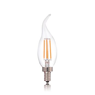 HRY 1db 2700-6500 lm E14 Izzószálas LED lámpák CA35 4 led COB Dekoratív Meleg fehér Hideg fehér AC 220-240V