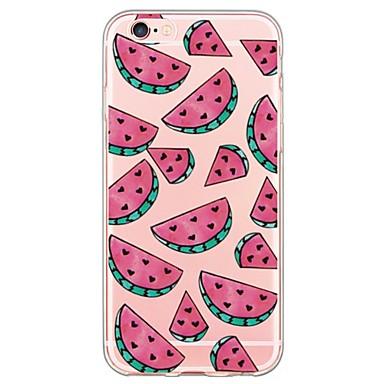 Mert iPhone 6 tok / iPhone 6 Plus tok Ultra-vékeny / Áttetsző Case Hátlap Case Gyümölcs Puha TPU AppleiPhone 6s Plus/6 Plus / iPhone 6s/6