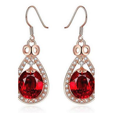 여성용 귀걸이 - 로즈 골드, 모조 다이아몬드 사치, 유럽의, 패션 레드 / 블루 제품 일상 / 캐쥬얼 / 라인석
