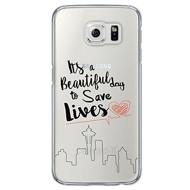 케이스 제품 Samsung Galaxy Samsung Galaxy S7 Edge 울트라 씬 반투명 뒷면 커버 단어 / 문구 소프트 TPU 용 S7 edge S7 S6 edge plus S6 edge S6 S5 S4