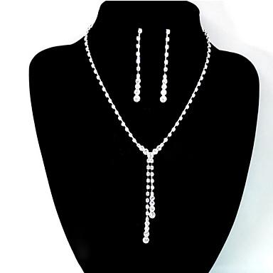 Damskie Biżuteria Ustaw - Modny, Inspirujący Zawierać Bridal Jewelry Sets Silver Na Ślub / Impreza / Codzienny / Náušnice / Naszyjniki