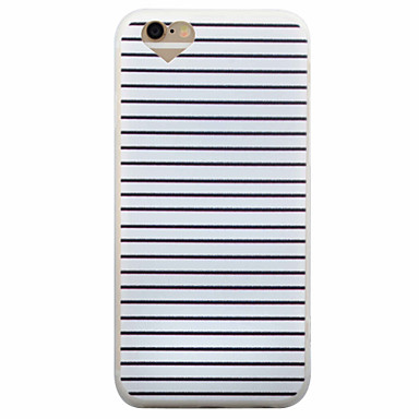 케이스 제품 Apple iPhone 8 iPhone 8 Plus iPhone 6 iPhone 6 Plus 반투명 뒷면 커버 라인 / 웨이브 소프트 TPU 용 iPhone 8 Plus iPhone 8 iPhone 6s Plus iPhone 6s