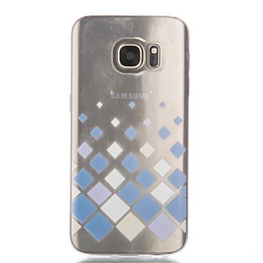 용 Samsung Galaxy S7 Edge 투명 / 패턴 케이스 뒷면 커버 케이스 기하학 패턴 소프트 TPU Samsung S7 edge / S7 / S6 edge / S6 / S5