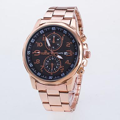 זול שעוני גברים-בגדי ריקוד גברים שעון יד קווארץ משובץ זהב ורוד זהב ורד שעונים יום יומיים / אנלוגי קלסי יום יומי שעוני שמלה - שחור כחול