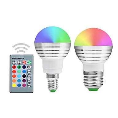 YWXLIGHT® 300 lm E14 E26/E27 Żarówki LED kulki A50 1 Diody lED LED zintegrowany Przysłonięcia Dekoracyjna Zdalnie sterowana RGB AC
