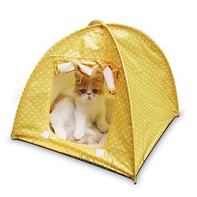 고양이 침대 애완동물 매트&패드 휴대용 / 텐트 그린 / 핑크 / 옐로우 테릴렌