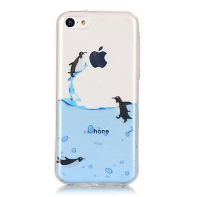 Case Kompatibilitás Apple iPhone X iPhone 8 iPhone 6 iPhone 6 Plus IMD Ultra-vékeny Átlátszó Minta Fekete tok Állat Puha TPU mert iPhone