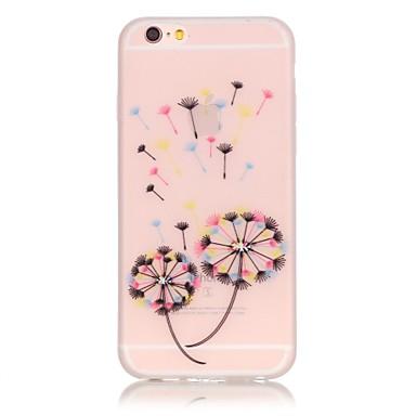 Kompatibilitás iPhone 6 iPhone 6 Plus tokok Foszforeszkáló Hátlap Case Csempe Puha Hőre lágyuló poliuretán mert Apple iPhone 7 Plus
