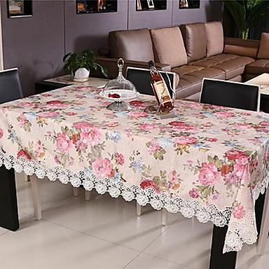 Derékszögű Virágos Mintás Asztalterítők , Poliészter Anyag Lakberendezés